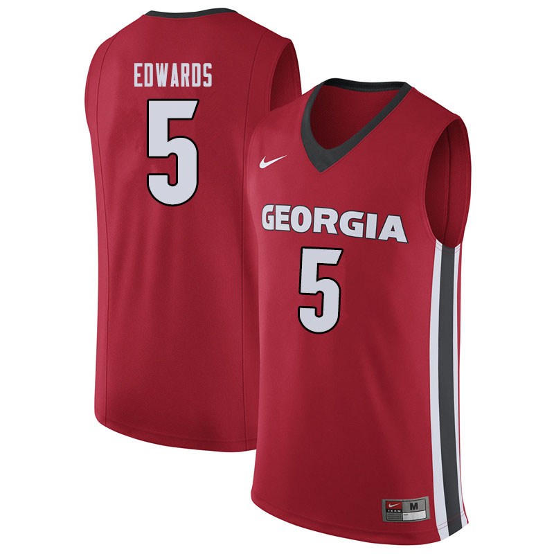 Men #5 Anthony Edwards Georgina Bulldogs College Basketball Jerseys Sale-Red