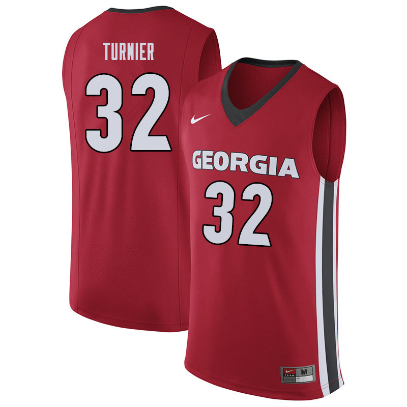 Men #32 Stan Turnier Georgina Bulldogs College Basketball Jerseys Sale-Red