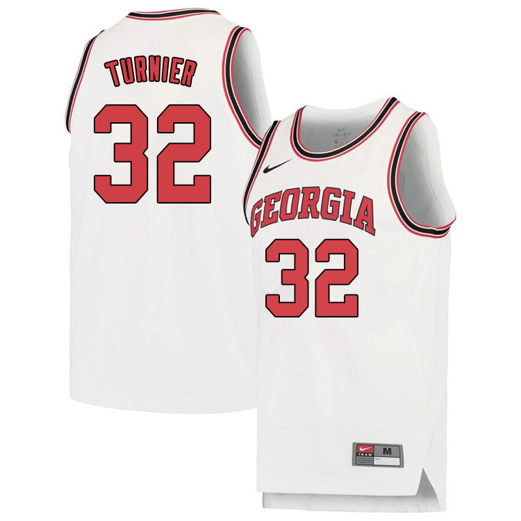 Men #32 Stan Turnier Georgina Bulldogs College Basketball Jerseys Sale-White
