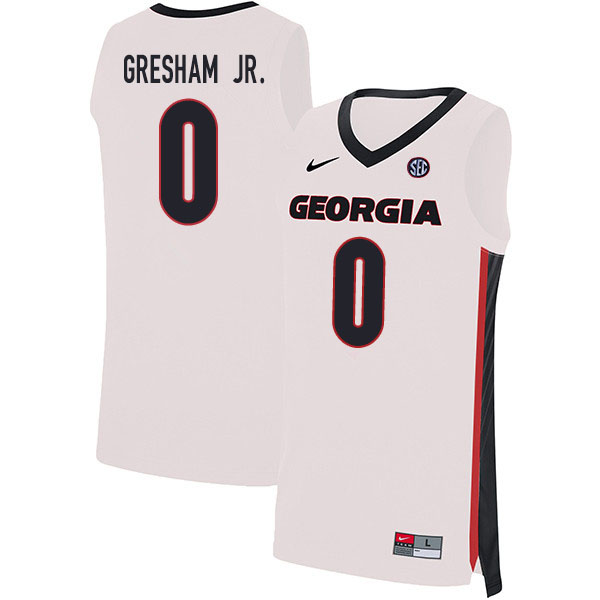 2020 Men #0 Donnell Gresham Jr. Georgia Bulldogs College Basketball Jerseys Sale-White