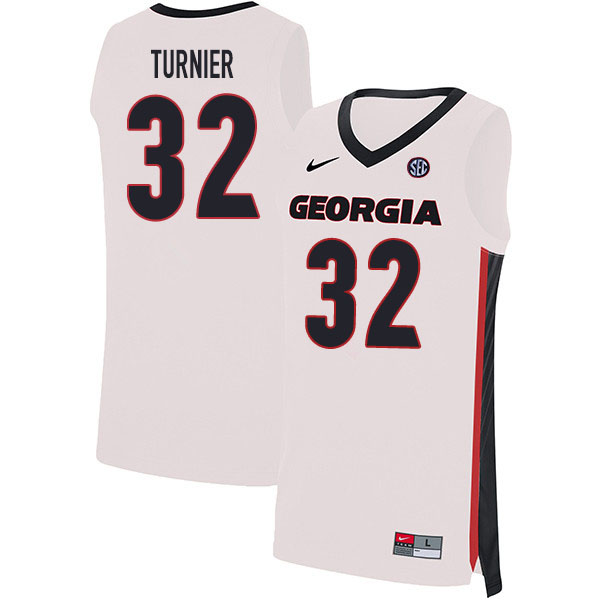 2020 Men #32 Stan Turnier Georgia Bulldogs College Basketball Jerseys Sale-White