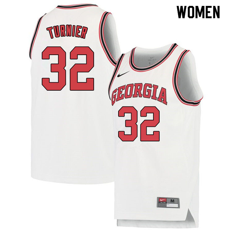 Women #32 Stan Turnier Georgina Bulldogs College Basketball Jerseys Sale-White