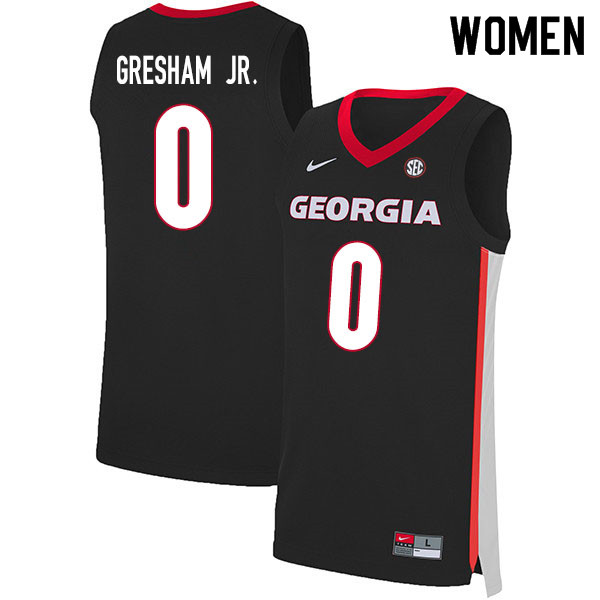 2020 Women #0 Donnell Gresham Jr. Georgia Bulldogs College Basketball Jerseys Sale-Black