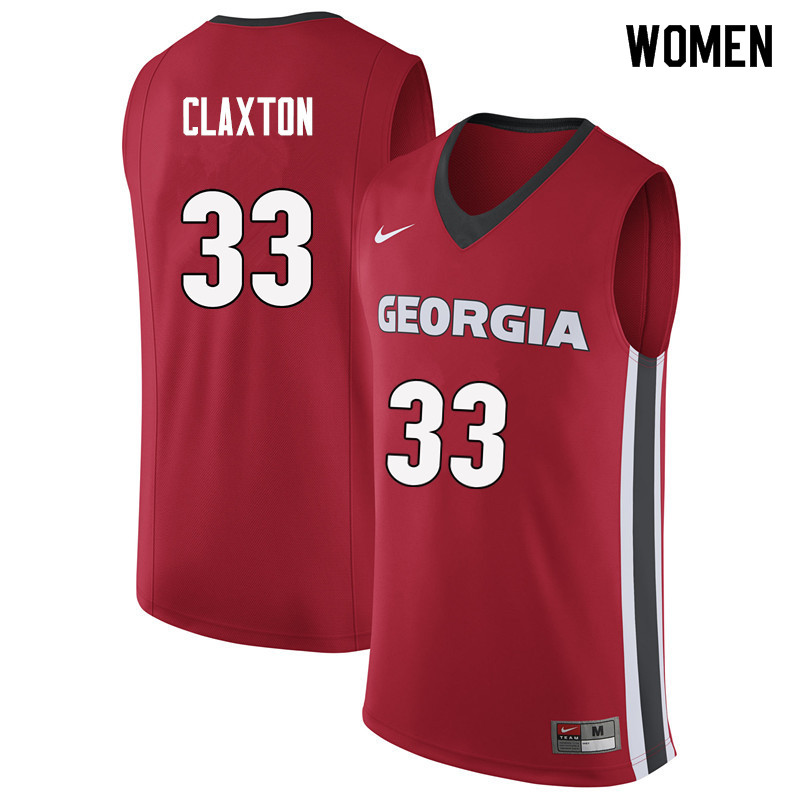 Women #33 Nicolas Claxton Georgia Bulldogs College Basketball Jerseys Sale-Red