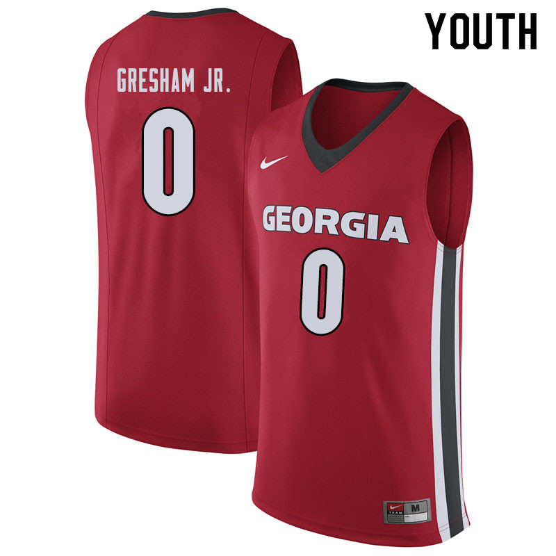 Youth #0 Donnell Gresham Jr. Georgina Bulldogs College Basketball Jerseys Sale-Red