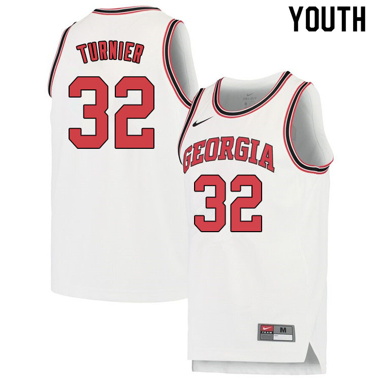 Youth #32 Stan Turnier Georgina Bulldogs College Basketball Jerseys Sale-White