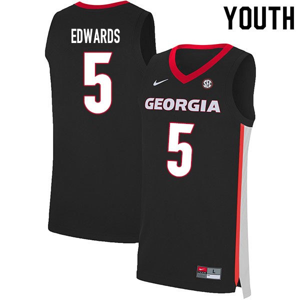 2020 Youth #5 Anthony Edwards Georgia Bulldogs College Basketball Jerseys Sale-Black