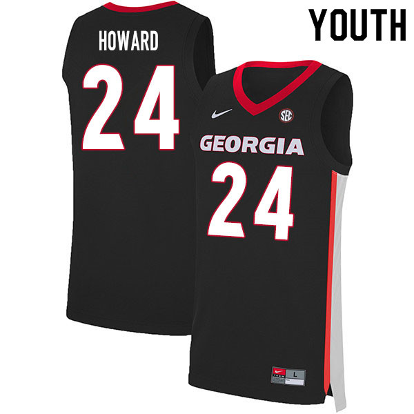 2020 Youth #24 Rodney Howard Georgia Bulldogs College Basketball Jerseys Sale-Black